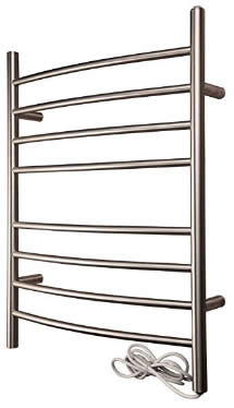 The HEATGENE Towel Warmer 8 Bar Radiant Plug-in Curved Bath Towel Heater review