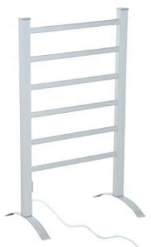 HomCom 6-Bar Freestanding Lightweight Aluminum Electric Towel Warmer Drying Rack review