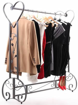 decorative garment racks