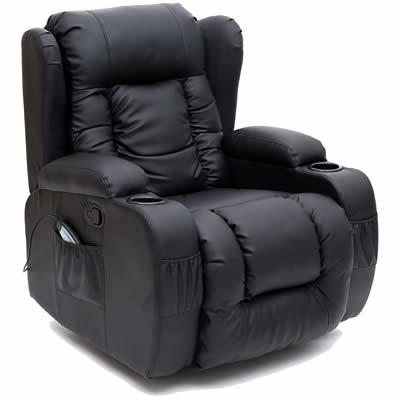 More4Homes Caesar 10 IN 1 Winged Leather Gaming Chair