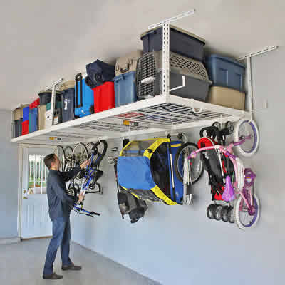 overhead garage storage rack reviews