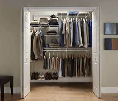 ClosetMaid 22875 ShelfTrack 5ft. to 8ft. Adjustable Closet Organizer Kit review