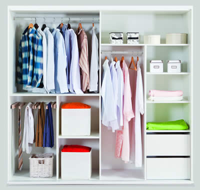 organized closet storage