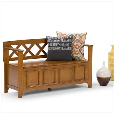The Simpli Home Amherst Entryway Storage Bench review