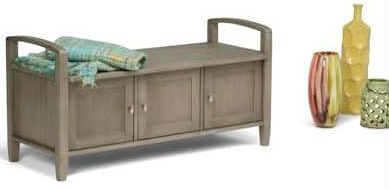 Simpli Home Warm Shaker Entryway Storage Bench review